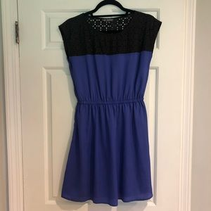 Cobalt blue and black lightweight dress